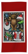 Page 1 Of 2 Teddy Bear Santa Claus Paper Doll Beach Towel