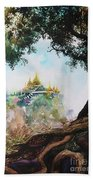 Pagoda On Mountain Beach Towel