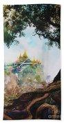 Pagoda On Mountain Beach Sheet