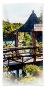 Pagoda Over The Lake Beach Towel