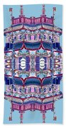 Pagoda Tower Becomes Chinese Lantern 2 Chinatown Chicago Beach Towel