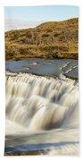 Paine River Waterfall Beach Towel