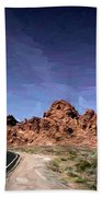 Paint Mixed Valley Of Fire Landscape  Beach Towel