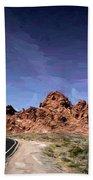 Paint Mixed Valley Of Fire Landscape  Beach Sheet