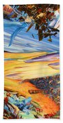 Paint Number 38 Beach Towel by James W Johnson