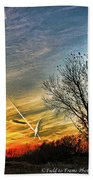 Painted Autumn Sunset Beach Towel