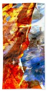 Painted Branches Abstract 1 Beach Towel