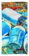 Painted Buoys Beach Towel
