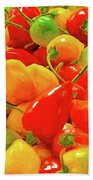 Painted Chilies Beach Towel