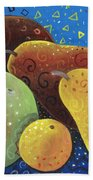 Painted Fruit Beach Towel