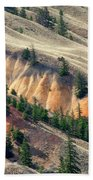 Painted Hills Beach Towel by Jacqui Boonstra
