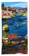 Painted Hot Creek Springs Beach Towel
