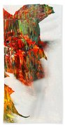 Painted Leaf Abstract 1 Beach Towel