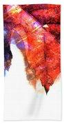 Painted Leaf Series 4 Beach Towel