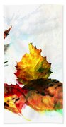 Painted Leaves Abstract 2 Beach Towel