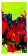 Painted Poppies Beach Towel
