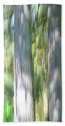 Painted Streaked Trees Beach Towel