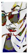 Painted Sunglasses Beach Towel