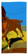 Painted War Horses Beach Towel