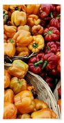 Painterly Peppers Beach Towel