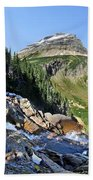 Paiota Falls - Glacier National Park Beach Towel
