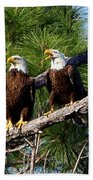 Pair Of American Bald Eagle Beach Towel