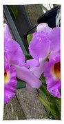 Pretty Purple Orchids Beach Towel