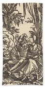 Pair Of Lovers In A Landscape Beach Towel
