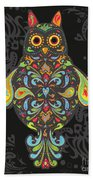 Paisley Owl Beach Towel