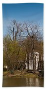 Palace In Royal Baths Park In Warsaw Beach Towel