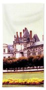 Palace Of Fontainebleau 1955 Beach Towel