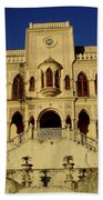 Palace Of The Maharaja Of Tehri-garhwal Near Rishikesh, India Beach Towel