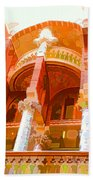 Palau De La Musica Catalana Window Beach Towel