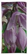 Pale Purple Starbursts Beach Towel