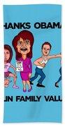 Palin Family Values Beach Towel