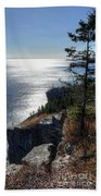 Palisade Head Lake Superior Minnesota Winter Afternoon Beach Towel