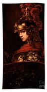 Pallas Athena  Beach Towel by Rembrandt