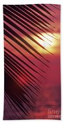 Palm At Sunset Beach Towel