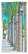 Palm Columns Beach Towel