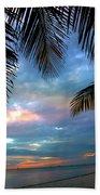 Palm Curtains Beach Sheet
