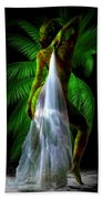 Palm Falls Beach Towel