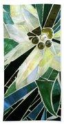 Palm Flower Mosaic Beach Towel