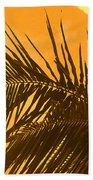 Palm Frond Sunset Beach Towel