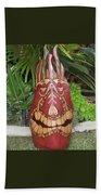 Palm Frond Tiki Beach Towel