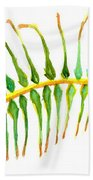 Palm Leaf Watercolor Beach Towel