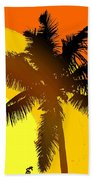 Palm On The Half Shell Beach Towel