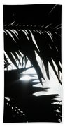 Palm Silhouettes Kaanapali Beach Towel