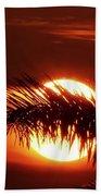 Palm Sunset Beach Towel