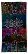 Palm Tree Abstraction Beach Towel