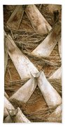 Palm Tree Bark Beach Towel